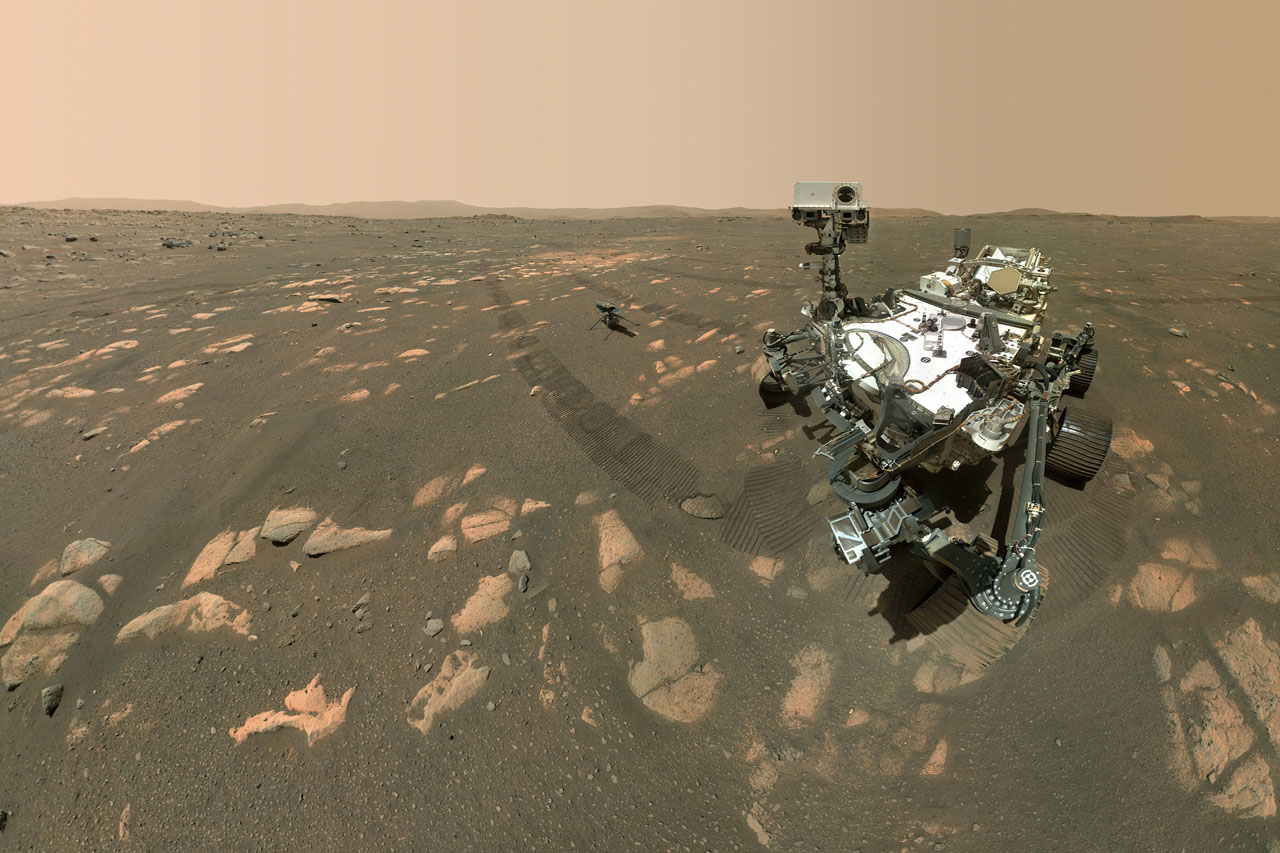Perseverance: Selfie mit Ingenuity(Bild: NASA/JPL-Caltech/MSSS)